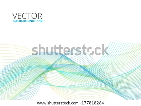 Abstract color wave lines  design vector background - stock vector