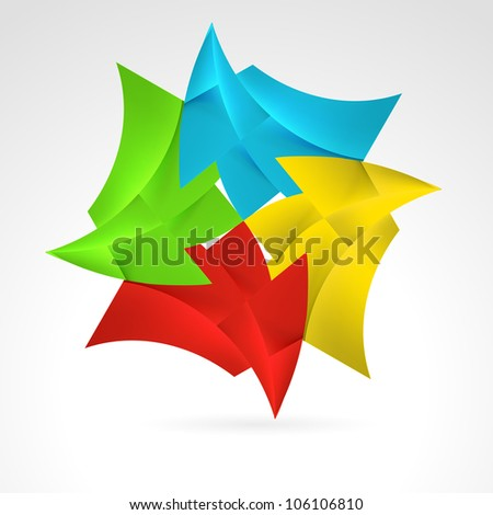 Abstract Color Web Elements. Illustration on white - stock vector
