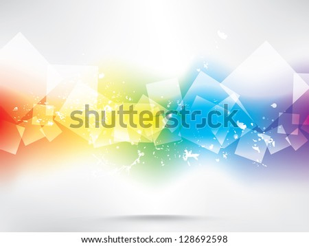 abstract colored background with circles - stock vector