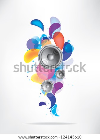 Abstract colored musical background - stock vector