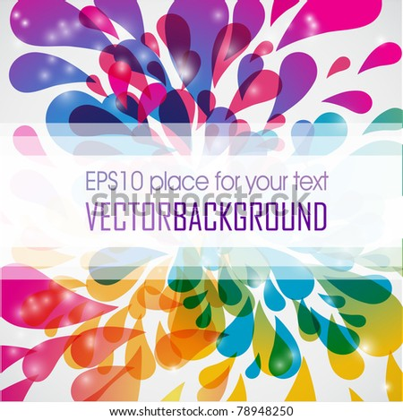 Abstract colored rainbow background - stock vector