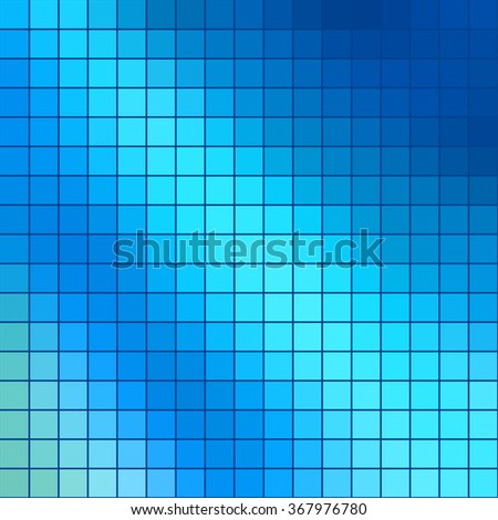 Abstract colored square mosaic tile blue background for any design, square format.