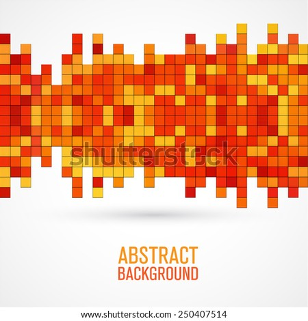 abstract colored square pixel mosaic - stock vector