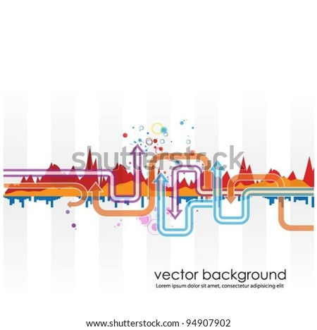 abstract colored vector background with arrows