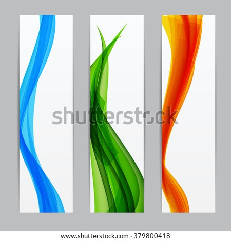 Abstract Colored Wave Background. Vector Illustration. EPS10 - stock vector