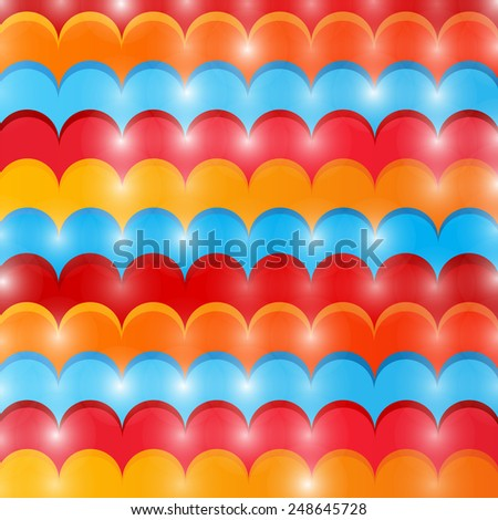 Abstract colored wave lines modern style background  - stock vector