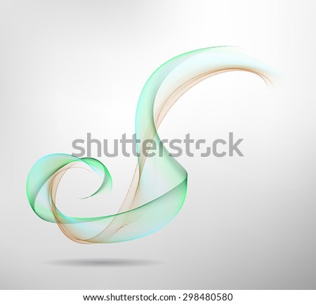 Abstract colored wave lines VECTOR. - stock vector