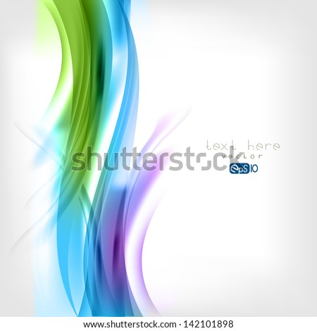 Abstract colored wave on background - stock vector