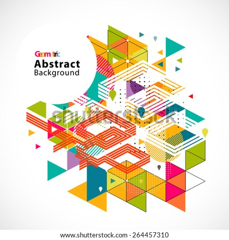 Abstract colorful and creative geometric template  for corporate business and space for text, vector illustration