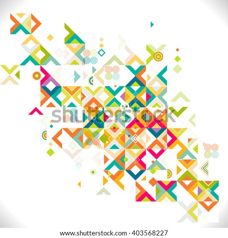 Abstract colorful and creative mix geometrical template, vector illustration