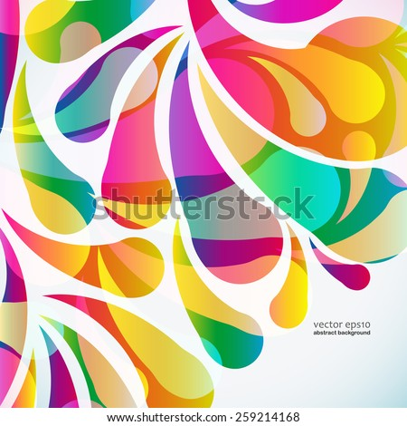 Abstract colorful arc-drop background. Vector. - stock vector
