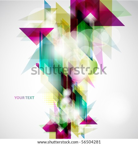 Abstract colorful background. - stock vector