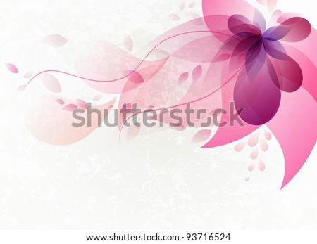 Abstract colorful background . Floral - stock vector