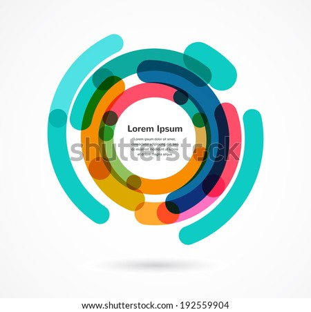 Abstract colorful background infographic with copy space - stock vector