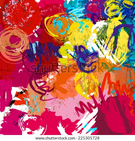 abstract colorful background, lines and circles,vector - stock vector