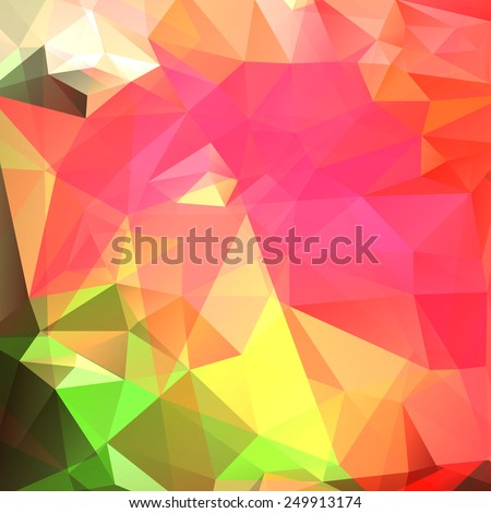 Abstract colorful background of triangles. Vector illustration - stock vector