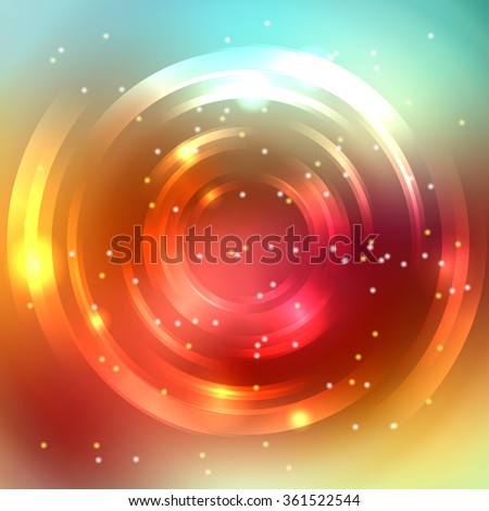 Abstract colorful background, Shining circle tunnel. Elegant modern geometric wallpaper.   Vector  illustration - stock vector