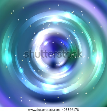 Abstract colorful background, Shining circle tunnel. Elegant modern geometric wallpaper.   Vector  illustration. Blue, green, violet colors.  - stock vector