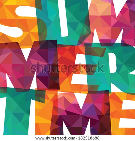 Abstract colorful background. summer time - stock vector