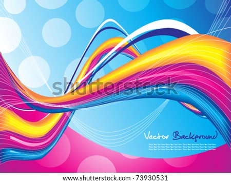 abstract colorful background vector illustration - stock vector