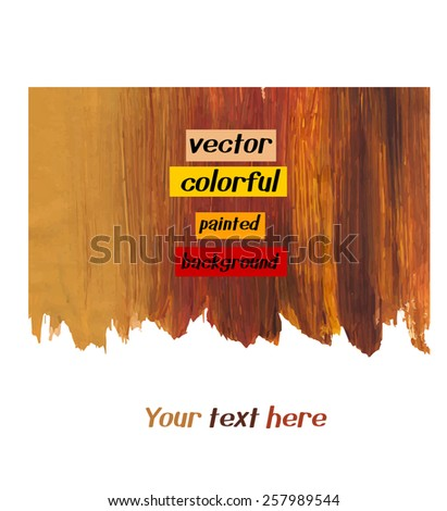 Abstract colorful background. Vector watercolor texture. Banner. Backdrop with space for text.  - stock vector