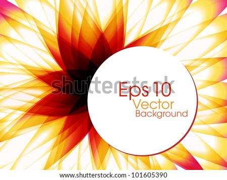 Abstract colorful  background with beautiful floral design for text project used and copy space, isolated on white. EPS 10, vector illustration. - stock vector
