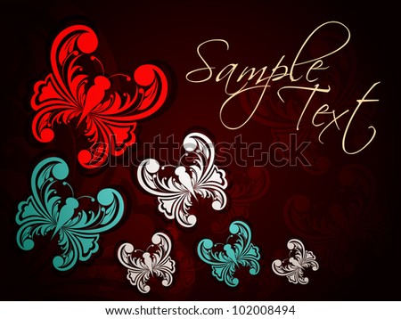 abstract Colorful background with butterfly. Vector illustration - stock vector