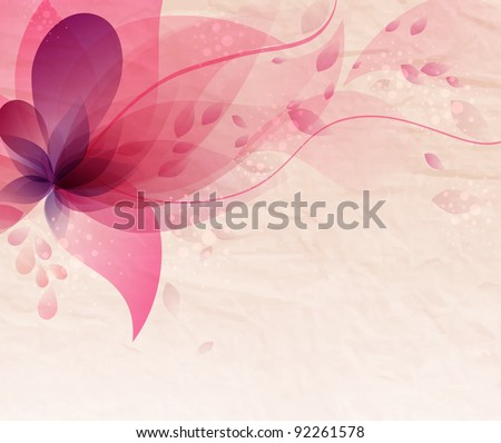 Abstract colorful background with flowers - stock vector