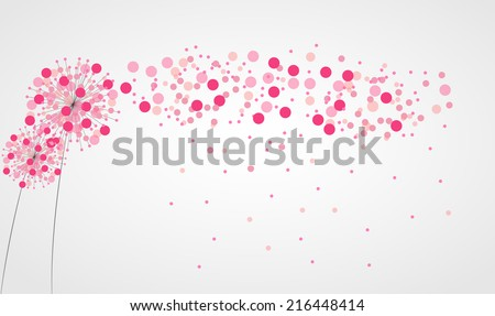 Abstract Colorful Background with Flowers. Vector Illustration. EPS10 - stock vector
