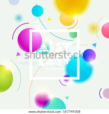 Abstract colorful background with frame for text.