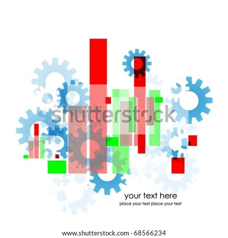 abstract colorful background with gears vector - stock vector