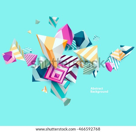 Abstract colorful background with geometric elements