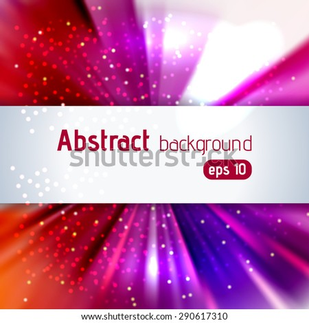 abstract colorful background with place for text, vector illustrarion - stock vector