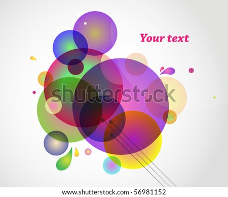 Abstract colorful background with sample text