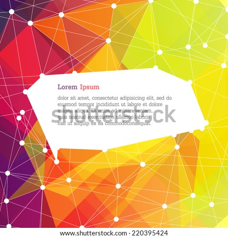 Abstract colorful background with space for text, vector - stock vector