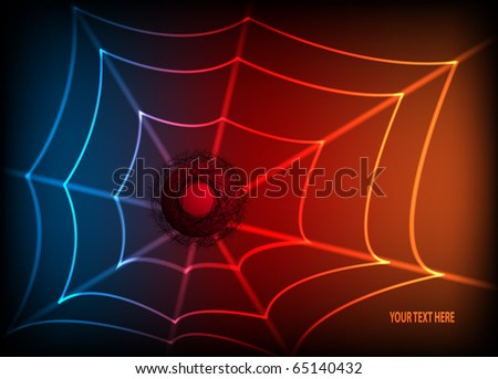 Abstract colorful background with spider web. EPS10 vector illustration. - stock vector