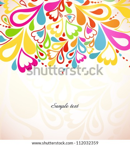 Abstract colorful Background with splash element. Vector illustration