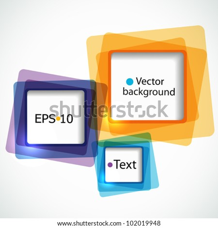 Abstract colorful background with squares - stock vector