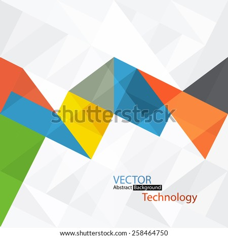 Abstract colorful background with triangles - stock vector