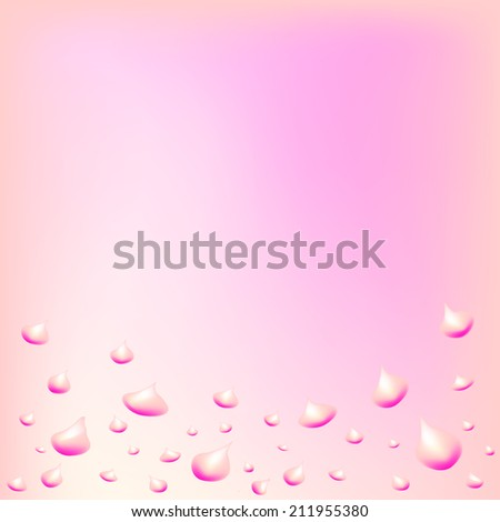 abstract colorful background with water drops