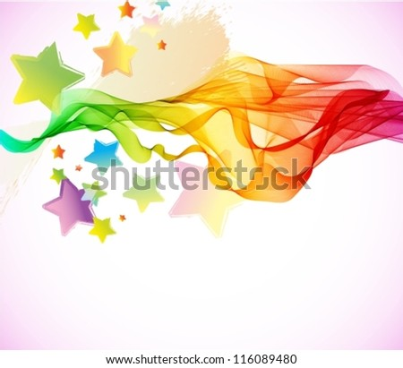 Abstract colorful background with wave for party design, vector