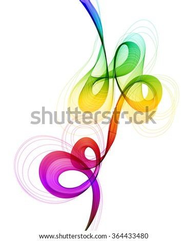 Abstract colorful background with wave, illustration, Vector - stock vector