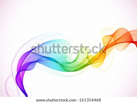Abstract colorful background with wave,vector illustration - stock vector