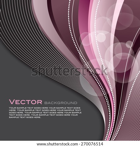 Abstract colorful background with wavy lines. - stock vector
