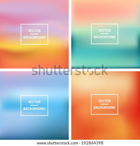 Abstract colorful blurred vector backgrounds.  Elements for your website or presentation.  - stock vector