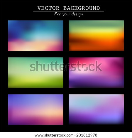 Abstract colorful blurred vector backgrounds. Vector timeline template.  Elements for your website or presentation. Gui.  Homepage   - stock vector