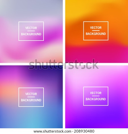 Abstract colorful blurred vector backgrounds. Vector timeline template.  Elements for your website or presentation.  - stock vector