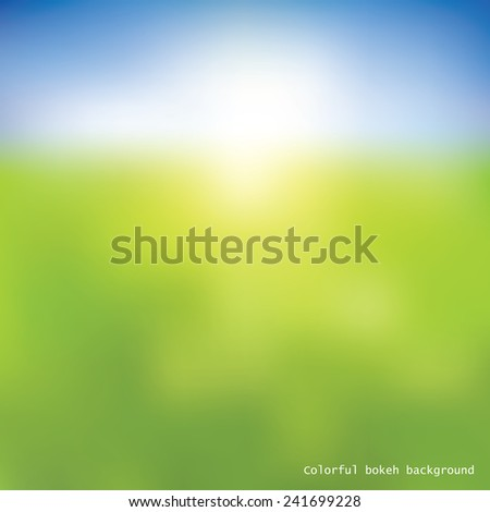 Abstract colorful bokeh background - stock vector