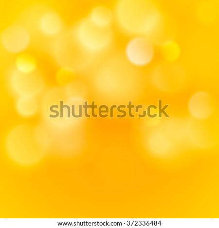 Abstract colorful bokeh light backgrounds blur bokeh blurred blurred office gold orange yellow background. Vector illustration - stock vector