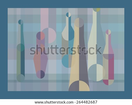 Abstract colorful bottles background vector